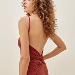 Reformation | Cinnamon Sparkle Breslin Dress